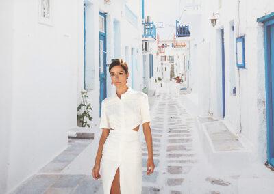 model shoot greece background