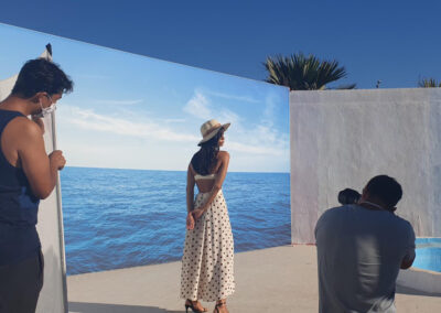 making of sea background